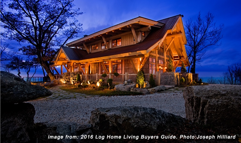Post and Beam Log Home featured in Log Home Living Buyers Guild 2016