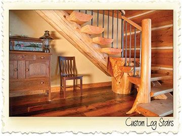 Custom Log Stairs