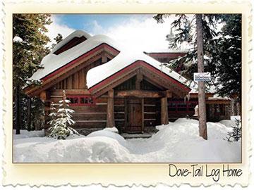 Dovetail Chinked System Log Home - Nicola LogWorks