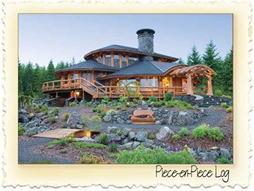 Piece-En-Piece Log Home - Nicola LogWorks