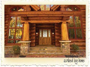 Scribed Log Home in Minnesota-1-Nicola LogWorks