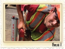 Francois working at the Okanagan Trades Project 2015 Thumbnail