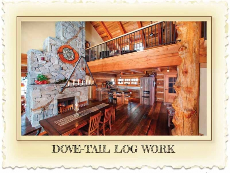 Dove tail Log Homes at Nicola LogWorks