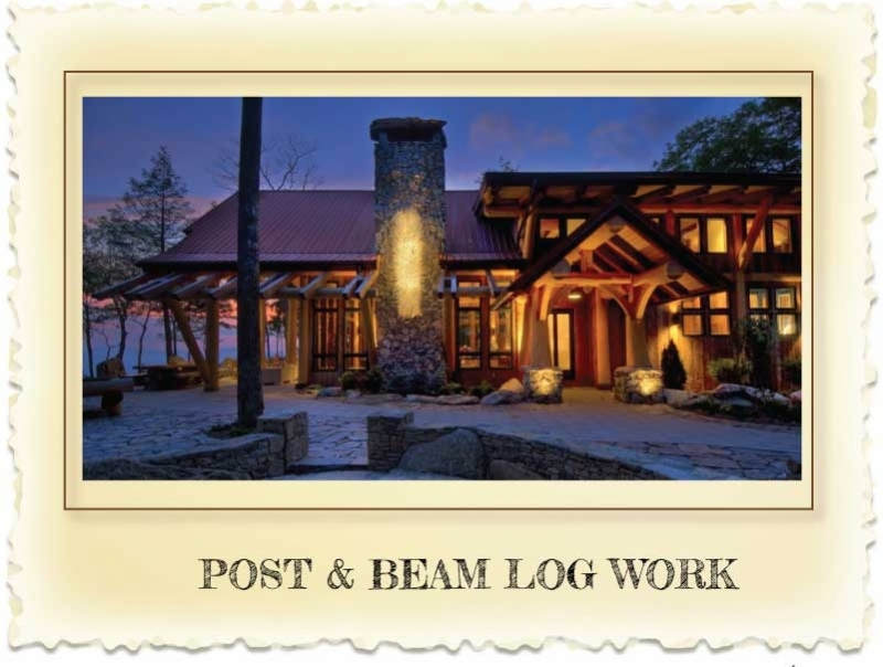 Post and Beam Log Homes at Nicola LogWorks