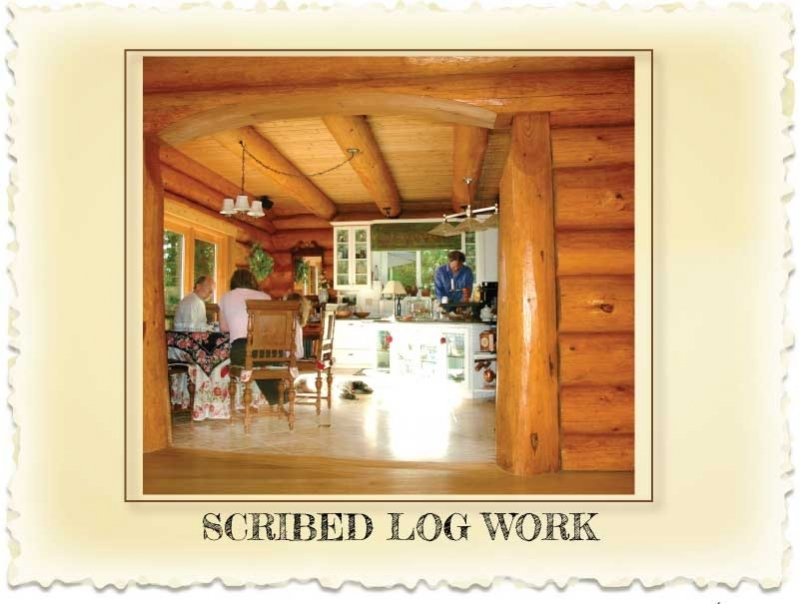 Scribed Log Homes at Nicola LogWorks Merritt BC
