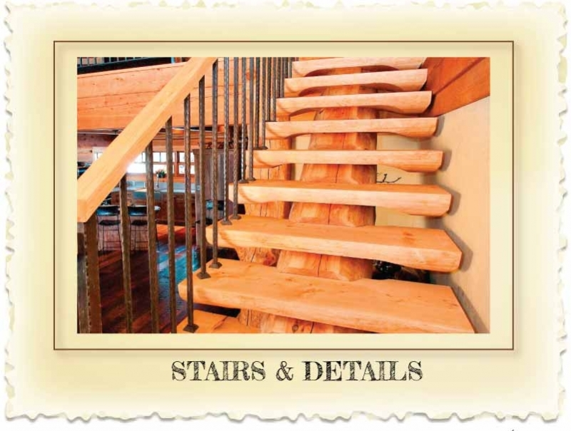 Log Stairs and Hand-Railing