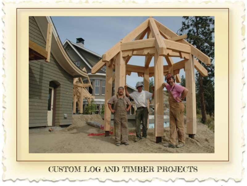 Custom log and timber outbuildings