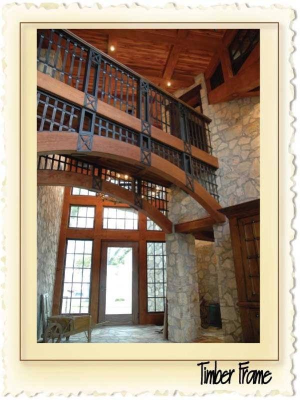 curved gluelam timber frame
