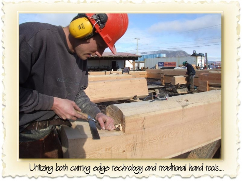 building a dovetail log home
