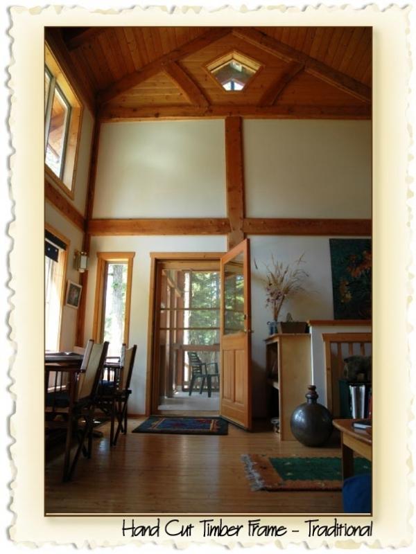 Traditional timber frame Pemberton BC