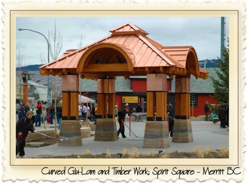 Spirit Square - Merritt BC - Curved Glu-lam by Nicola LogWorks