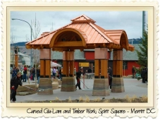 Spirit Square - Merritt BC - Curved Glu-lam by Nicola LogWorks Thumbnail