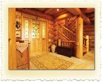 Foyer - Scribed Log Home