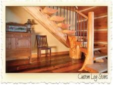 Log Stair Treads by Nicola LogWorks