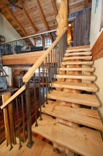 Timber Stairs for Apex Alpine ski cabin.