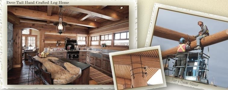 Dove-tail hand crafted log home