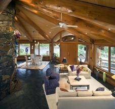 The Living area in the Port Angeles Piece-en-piece. (Design: Murray Arnott).